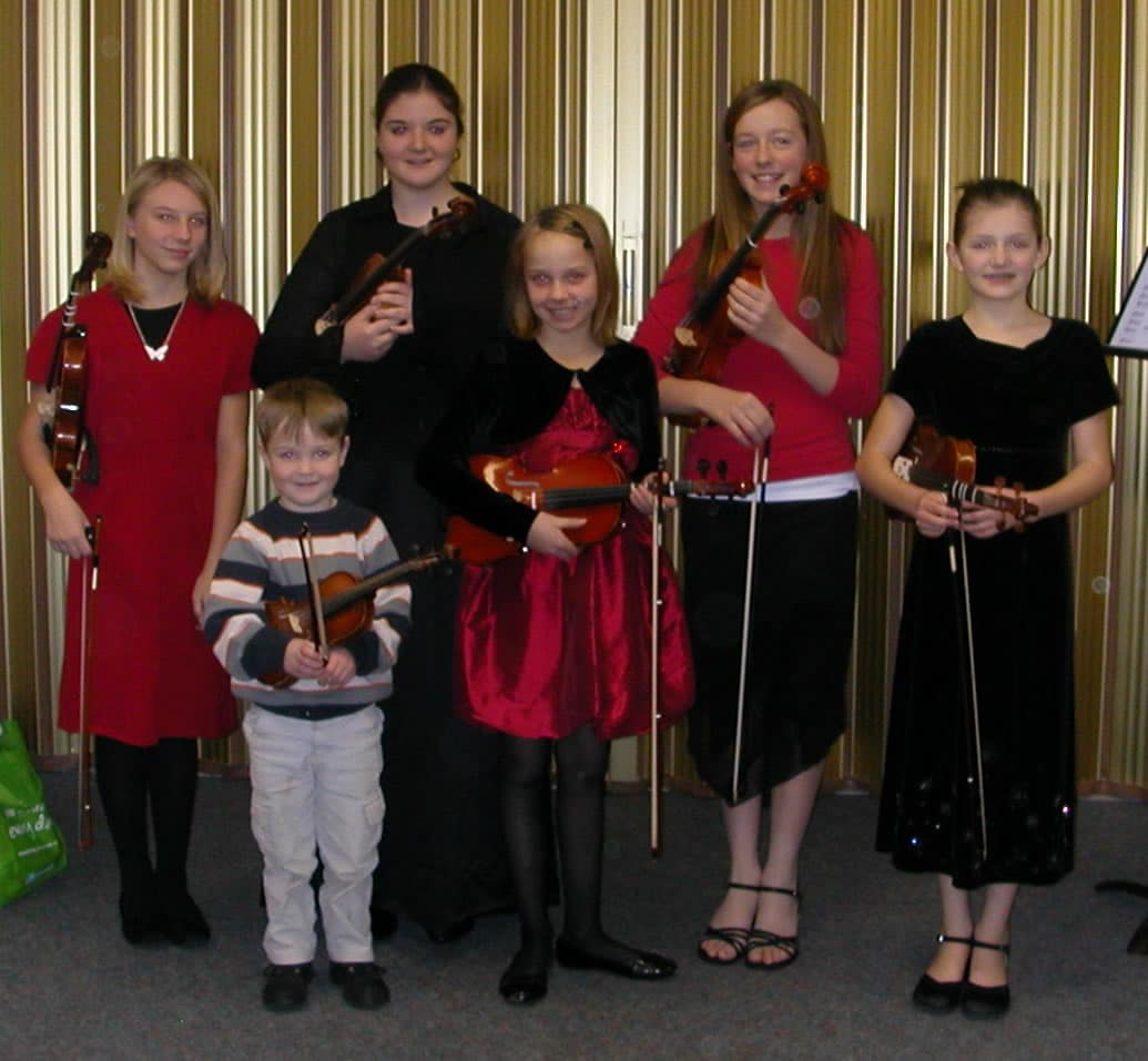 Sarah with a few of her many students.
